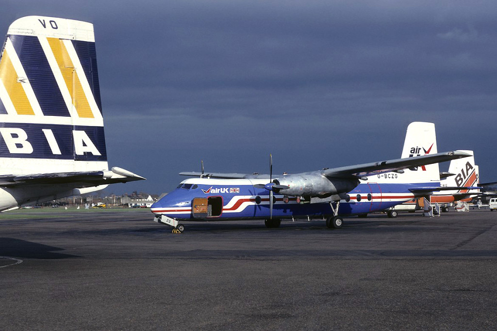 G BCZG Southend 1981. Leased aircraft from British Air Ferries, its last operator was MMM Air Service in Zaire and was destroyed in attempted force landing while flying between Kinshasa and Tshikapa in September 1984. Photo Richard Vandervord.