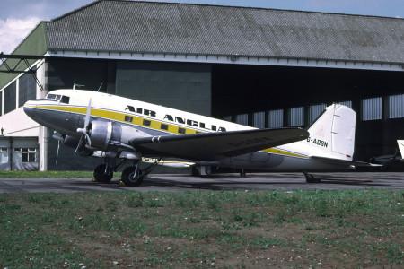 G AOBN Douglas C47 Dakota Norwich September 1974