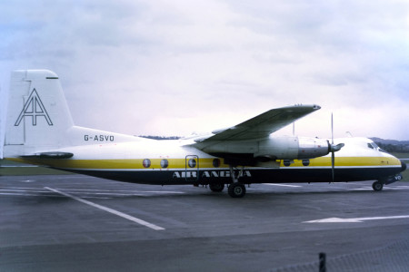 G ASVO Handley Page HPR7 Herald 214 Edinburgh April 1975