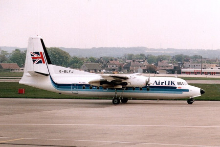G BLFJ Fokker F27-100 Aberdeen May 1992