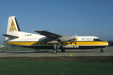 G BLGW Fokker F27 200 Stansted January 1980