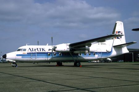 G BNAL Fokker F27-600 Norwich April 1995