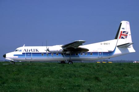 G BNCY Fokker F27-500 Jersey May 1989
