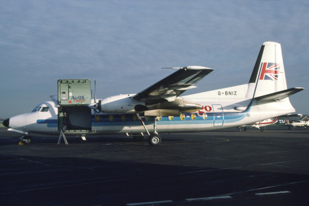 G BNIZ Fokker F27-600 Southend February 1988