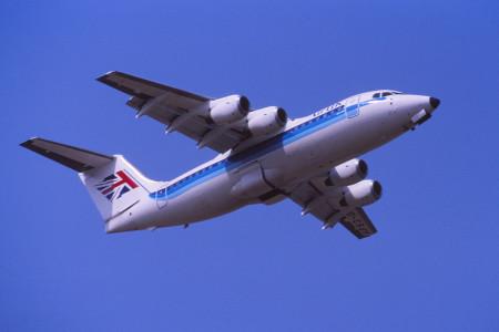 G CSJH BAe 146 200. Southampton July 1989.