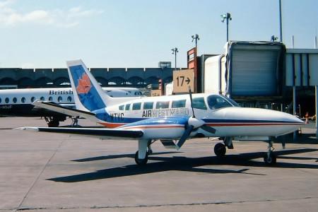 G WTVC Cessna 404 Titan. Glasgow 1978/9