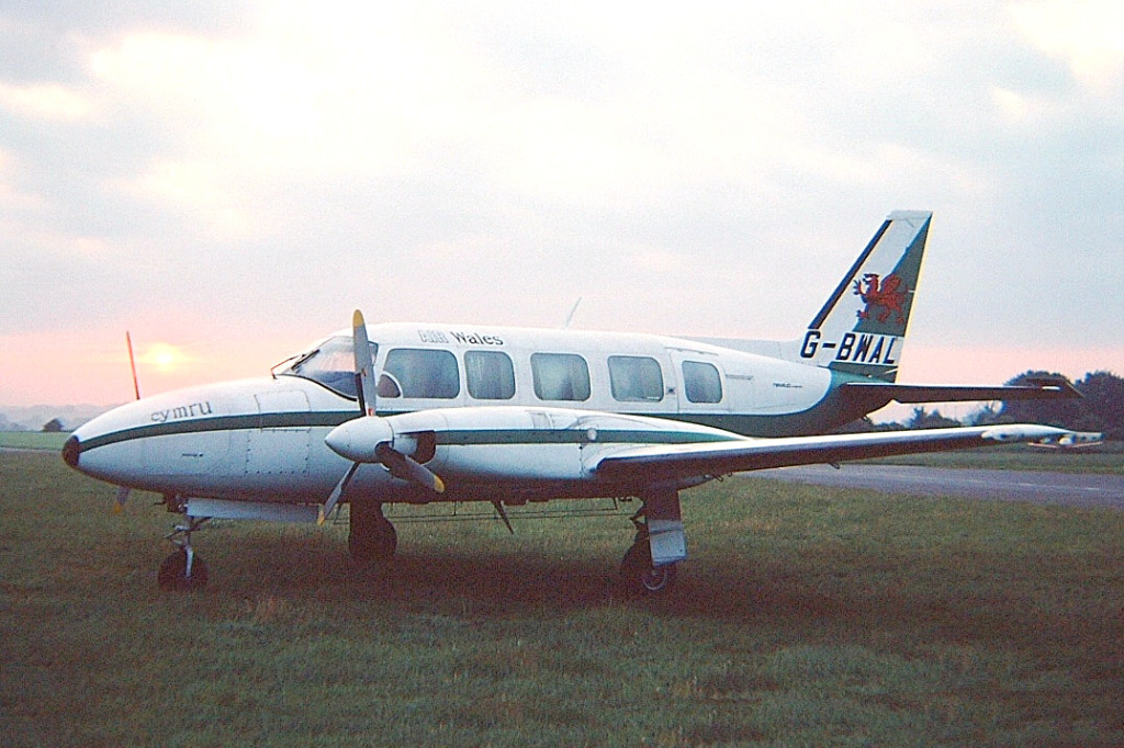 G BWAL Piper PA-31 350 Navajo Chieftain. Oxford June 1979 Air Wales another part of the merger to form Air UK. Photo Martin Stephen