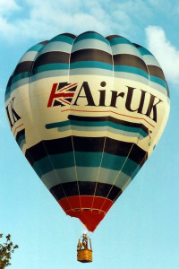 G BPVT Thunder AX7-65 Hot Air Balloon. Norfolk 1990