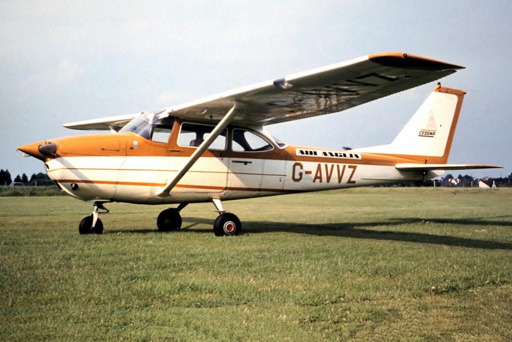 G AVVZ Reims Cessna F172H Skyhawk. Clacton June 1971 Operated by Norfolk Airways April 1970 to July 1972. Photo Stuart Jessup.
