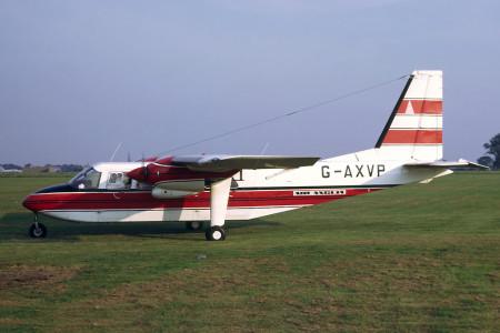 G AXVP Britten Norman BN2A Islander. Coltishall  September 1971