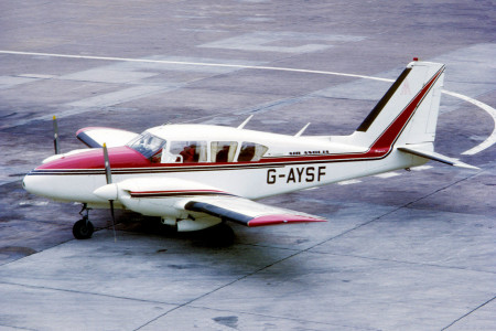 G AYSF Piper PA-E23-230 Aztec. Manchester November 1971