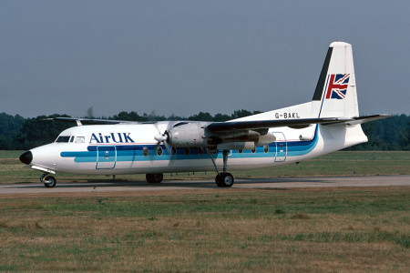 G BAKL Fokker F27 – 200. Southampton August 1989