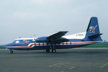 G BAUR Fokker F27 – 200. Southend May 1980