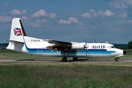 G BCDN Fokker F27 – 200. Southampton August