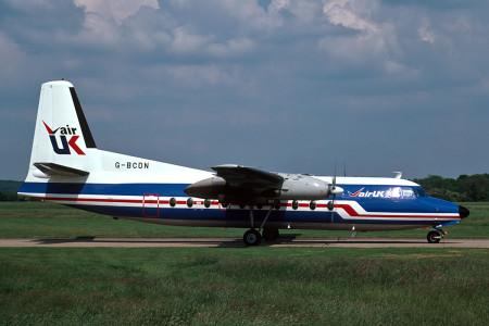 G BCDN Fokker F27 – 200. Southampton June 1987
