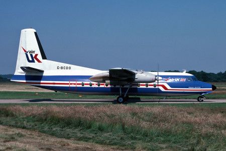 G BCDO Fokker F27 – 200. Named Lord Butler. Southampton July 1987
