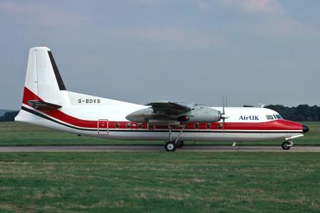 G BDVS Fokker F27–200. Southampton November 1988