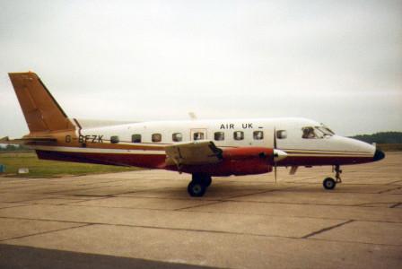 G BFZK EMB-110 P1 Bandeirante. Southampton 1983