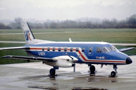 G BGYV EMB-110 P1 Bandeirante. Southampton May 1980