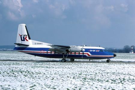 G BHMY Fokker F27-200. Southampton March 1987