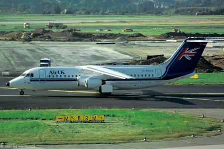 G BSNS BAe 146-300 Dusseldorf August 1997