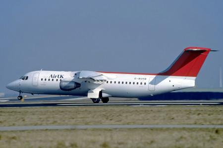 G BUHB BAe 146-300. Amsterdam 1996