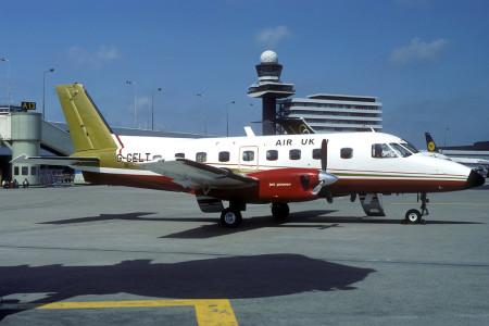 G CELT EMB-110 P2 Bandeirante. Amsterdam June 1983