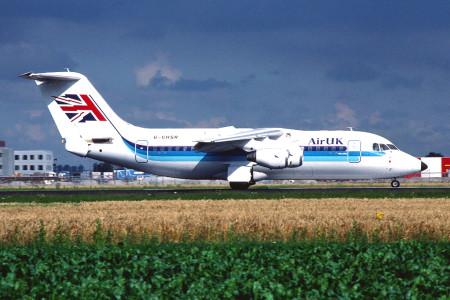 G CHSR BAe 146 - 200. Amsterdam August 1988
