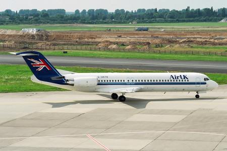 G UKFB Fokker F28 0100 Dusseldorf August 1997