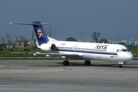 G UKFF Fokker F28 0100 Palma April 1996