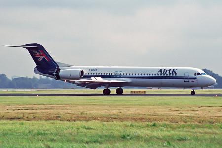 G UKFR Fokker F28 0100 Amsterdam August 1999