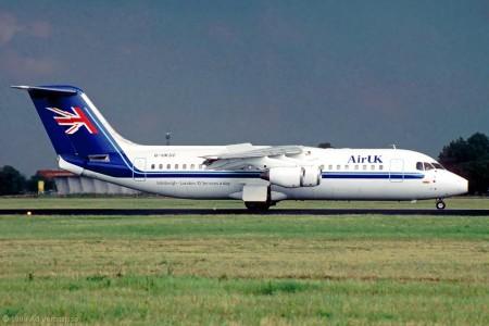 G UKSC BAe 146-300 Amsterdam August 1999