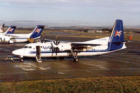 G UKTB Fokker 50 Aberdeen September 1997