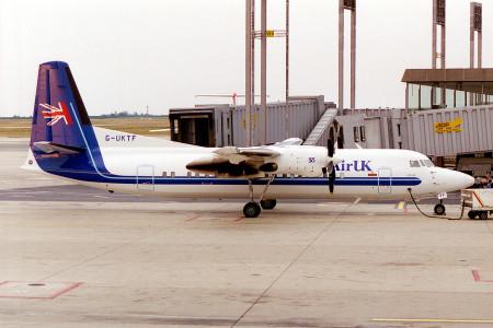 G UKTF Fokker 50 Paris Charles De Gaulle August 1995