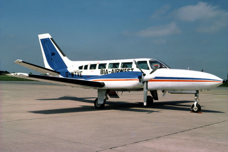 G WTVE Cessna 404 Titan Unknown location 1979