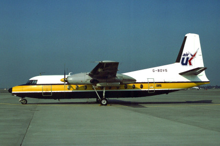 G BDVS Fokker F27-200 Unknown Location Possibly 1979