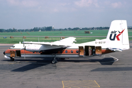 G BEYF Handley Page HPR7 Herald 401. Southend August 1980