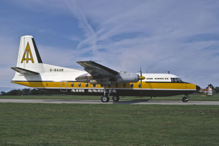 G BAUR Fokker F27 – 200. Unknown location 1973