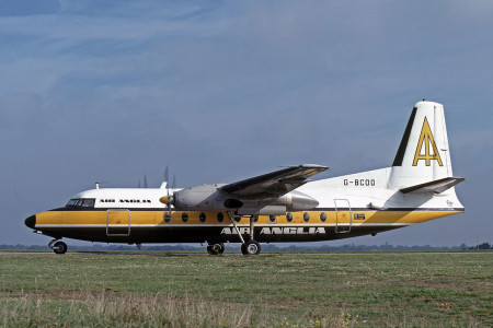 G BCDO Fokker F27 – 200. Jersey 1979