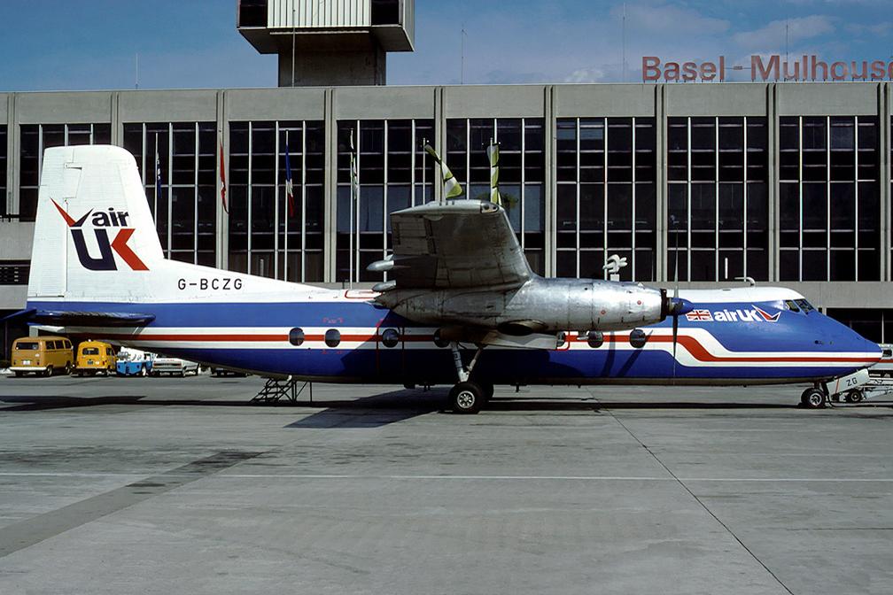 G BCZG Handley Page HPR7 Herald 202. Basel September 1980 Photo Eduard Marmet.