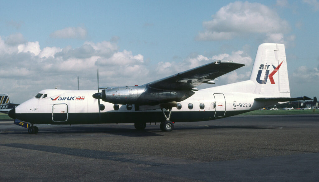 G BCZG Handley Page HPR.7 Herald 202. Southend October 1981