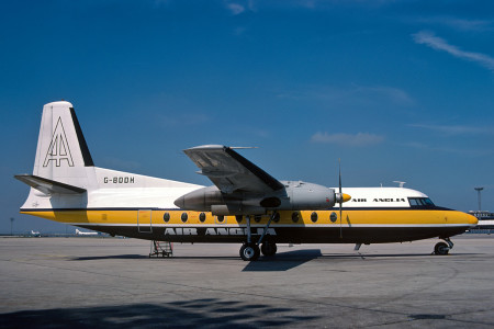 G BDDH Fokker F27 – 200. Unknown location 1977