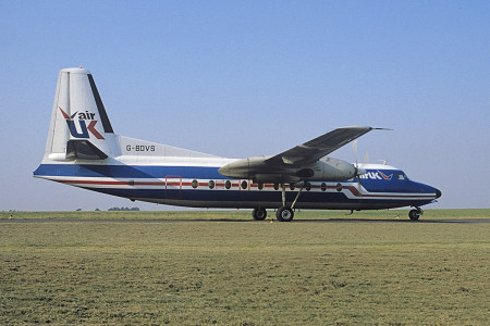 G BDVS Fokker F27 – 200. Norwich Aug 1983