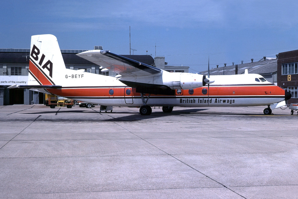 G BEYF Handley Page HPR.7 Herald 401 Southampton July 1978 Pictured in the final BIA colour scheme. Photo Barry Friend.