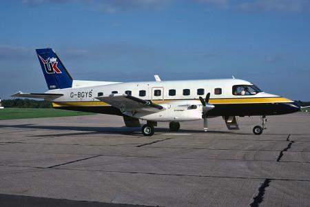 G BGYS Embraer EMB 110P2 Bandeirante. Southampton October 1980