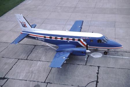 G BGYU Embraer 110P2 Bandeirante. Southampton 1980