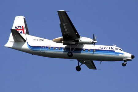 G BHMW Fokker F27 – 200. London Heathrow 1992
