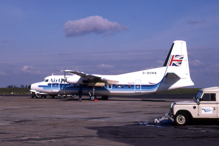 G BHMW Fokker F27 – 200. Norwich March 1988