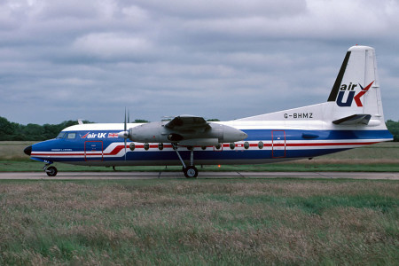 G BHMZ F27–200 named R J Mitchell. Southampton July 1987