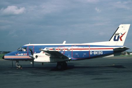 G BKBG Embraer EMB 110P1 Bandeirante. Southend September 1982